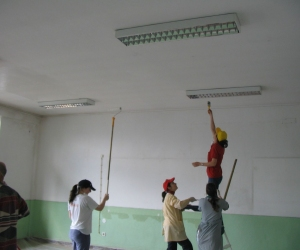 As pinturas na escola - 2008