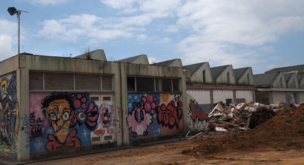 Os grafitos das oficinas