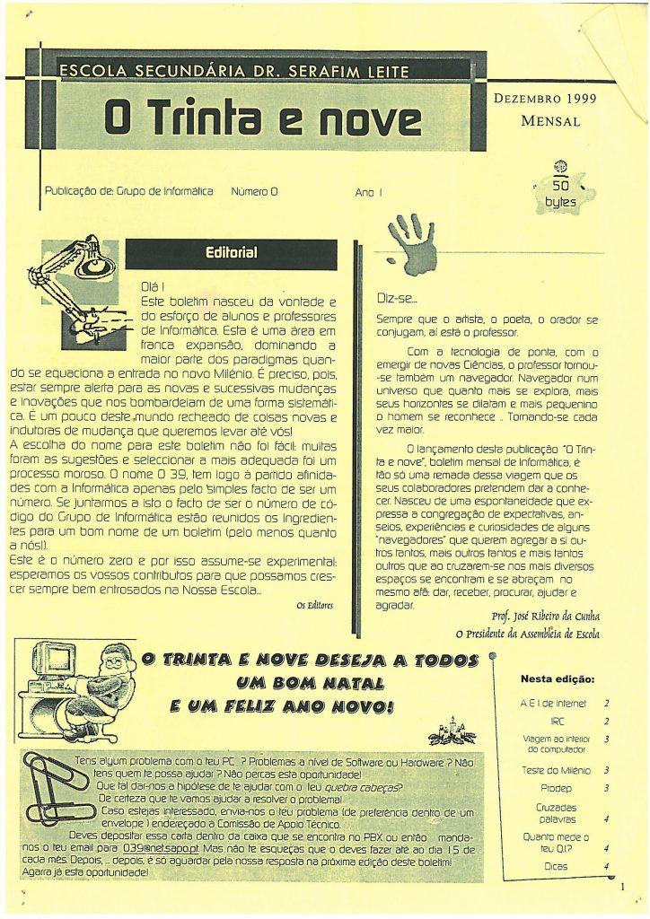 Dezembro de 1999— O Trinta e Nove, Nº 0