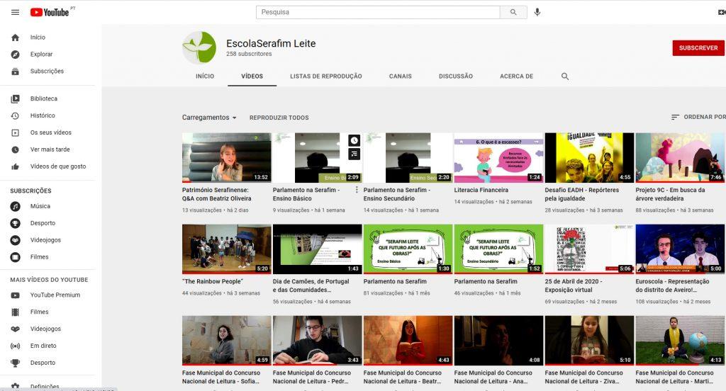 O youtube da Serafim Leite
